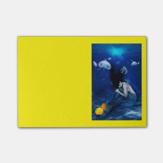 Der Schlummer der Meerjungfrau Post-it Haftnotiz