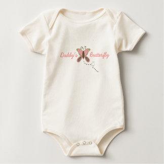 Der Schmetterlings-Säuglings-Mädchen des Vatis Bio Baby Strampler