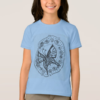 Der Schmetterlings-T - Shirt des Mädchens