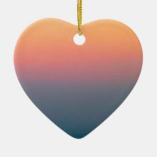 Der schöne Himmel Keramik Herz-Ornament