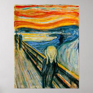 Der Schrei durch Edvard Munch Poster