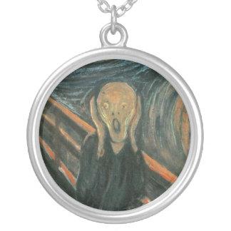 Der Schrei durch Edvard Munch Versilberte Kette