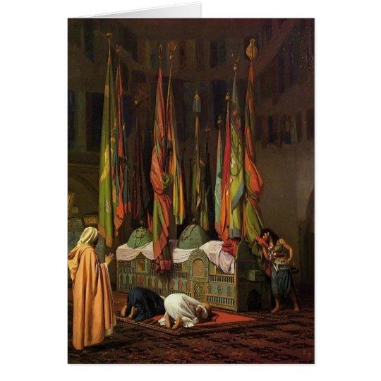 Der Schrein des Imams Hussein durch Jean-Leon Grußkarte