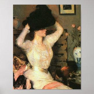 Der schwarze Hut durch Frank Weston Benson feine Poster