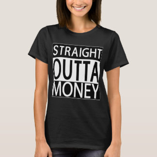 Der schwarze T - Shirt der geraden Outta