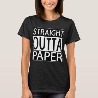 Der schwarze T - Shirt gerader Outta Papierfrauen
