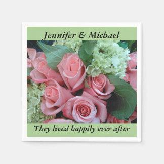 Der Servietten-Hochzeits-Empfang personifizieren Serviette