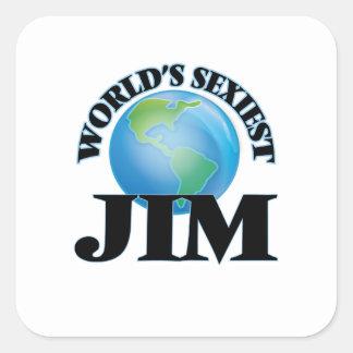Der sexyste Jim der Welt Quadratischer Aufkleber