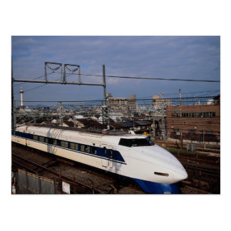 Der Shinkansen oder Kugel-Zug, Kyoto, Japan Postkarte