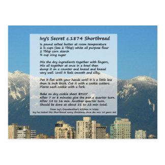 Der Shortbread-Rezept-Postkarte des Efeus Postkarte