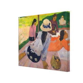 Der Siesta durch Frauen Tahiti Paul Gauguins Leinwanddruck