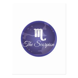 Der Skorpion Postkarte