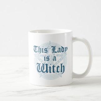Der Slogan der Hexe und Magick Pentagramm Kaffeetasse