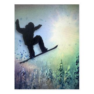 Der Snowboarder: Luft Postkarte