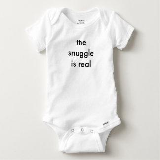 Der SNUGGLE ist wirklicher Baby-Bodysuit Baby Strampler