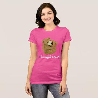 Der Snuggle ist wirkliches T-Stück T-Shirt
