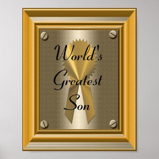 Der Sohn-Plakat-Druck-Zeichen der Welt beststes