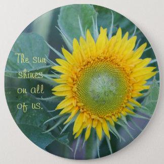 Der Sonne-Glanz auf allen uns Runder Button 15,3 Cm