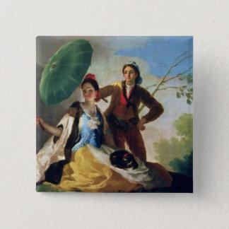 Der Sonnenschirm, 1777 Quadratischer Button 5,1 Cm