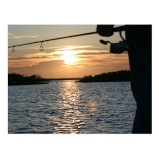 Der Sonnenuntergang des Fischers Postkarte