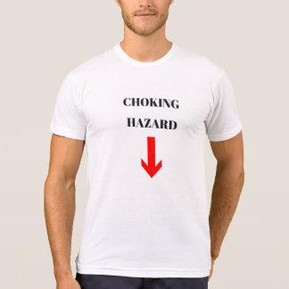 Der Spaß-Baumwollerstickender GefahrenT - Shirt