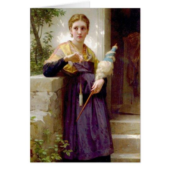 Der Spinner, William-Adolphe Bouguereau Karte