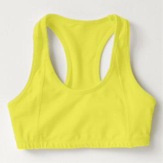 Der Sport-BH der Frauen, Neon-Gelb