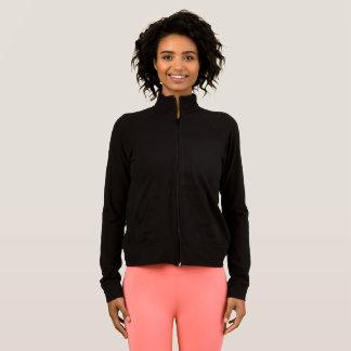 Der Sport-Praxis-Jacke SCHWARZ-Farbe der Frauen Jacke