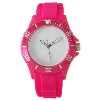 Der Sport-Rosa-Silikon-Uhr der Frauen Uhr