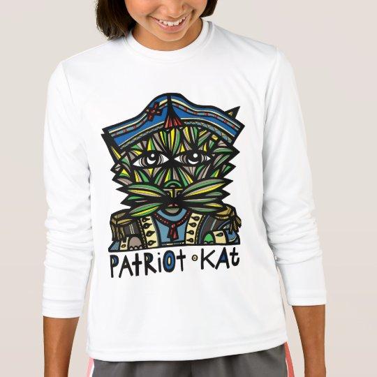 """Der Sport-T - Shirt """"Patriotkat-"""" Mädchen"""