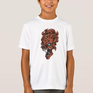 Der Sport-Tek der Schädel-Kinder grundlegender T-Shirt