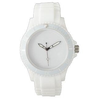 Der Sport-weiße Silikon-Uhr der Frauen Uhr