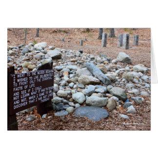 der Standort der *Thoreaus der Kabinengrundlage Karte
