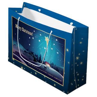 Der Stern von Bethlehem. Kundenspezifische Große Geschenktüte