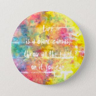 [der Stoff des Malers] Distresed Runder Button 7,6 Cm