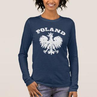 Der Stolz-Eagle-Symbol der Frauen polnisches Langarm T-Shirt