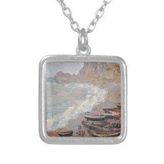 Der Strand bei Etretat - Claude Monet Versilberte Kette