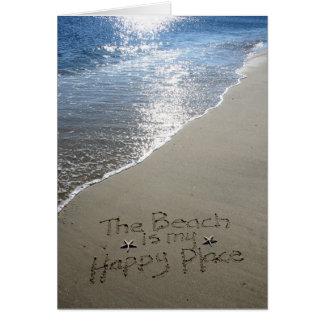 Der Strand ist mein glücklicher Platz Karte