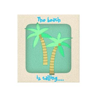 Der Strand nennt Leinwanddruck