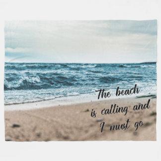 Der Strand nennt und ich muss gehen Fleecedecke