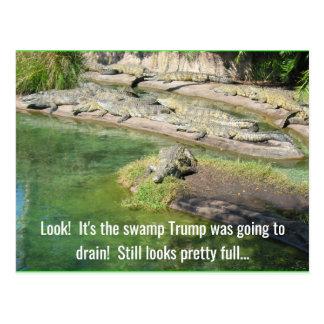 Der Sumpf schaut voll Postkarte