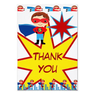 Der Superhero-Geburtstag personalisiert danken Karte