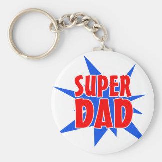 Der Supervatertag vati-Keychain Standard Runder Schlüsselanhänger