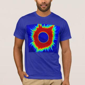 Der T - Shirt 2017 Eklipse-Männer, Neon-Reihen