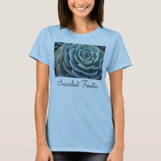 Der T - Shirt blauer echeveria Damen
