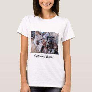 Der T - Shirt-Cowboystiefel der Frauen T-Shirt