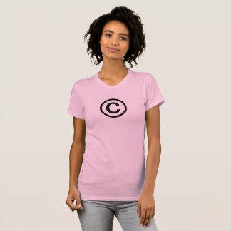 Der T - Shirt der Copyright-Symbol-Frauen