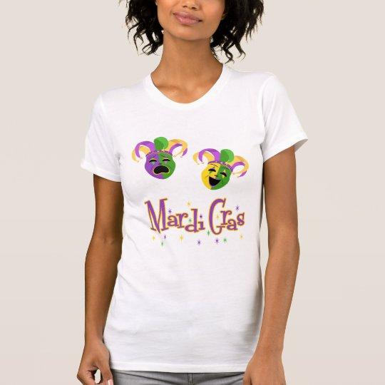 Der T - Shirt der eleganten Karneval-Masken-Frauen