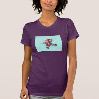 Der T - Shirt der Frauen, Aubergine,