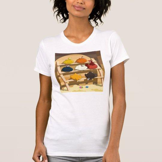 Der T - Shirt der Henne-Haus-Frauen